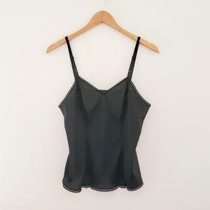Vanity Fair black camisole lace trim size 36/42